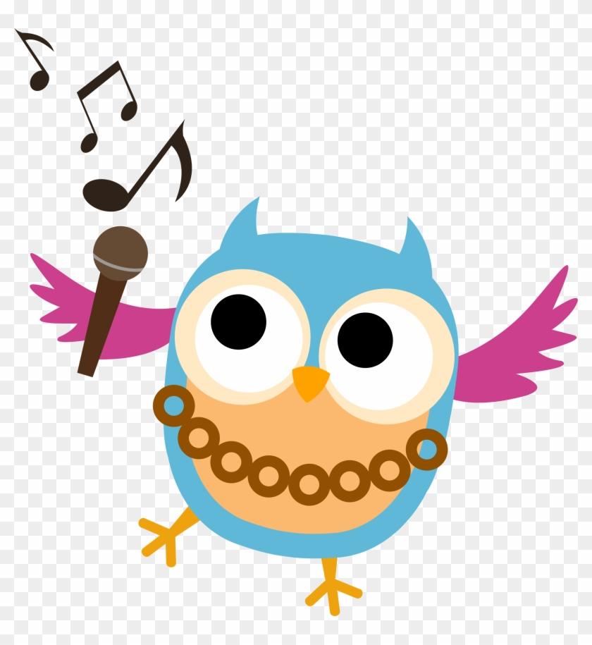 Choir Club - Owl Singing Clip Art #115496