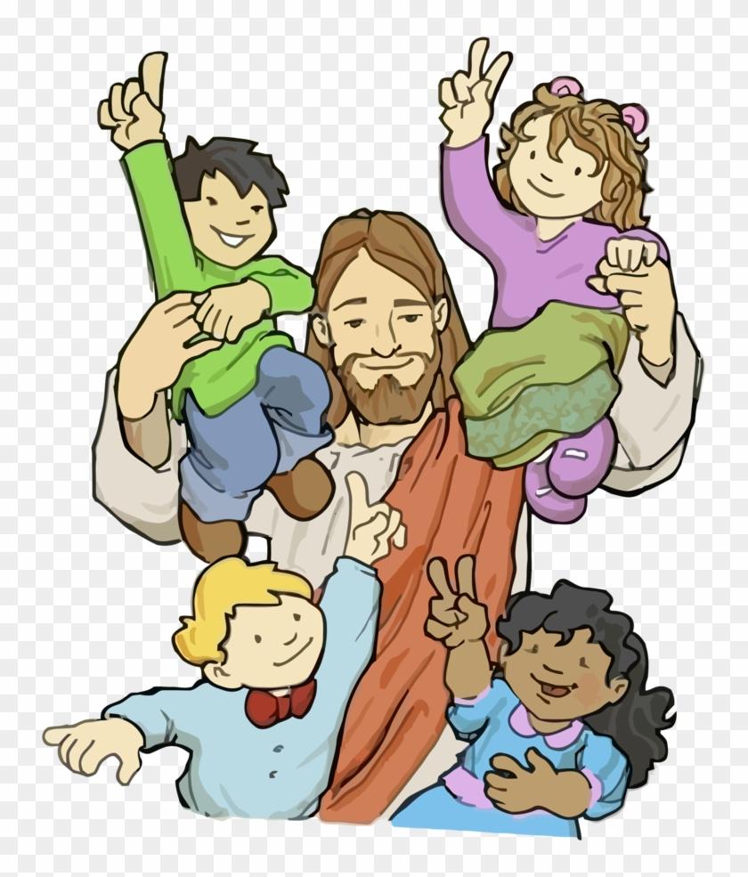 Jesus Vector38 By Minayoussefsaleb - Kids With Jesus Cartoon #115563