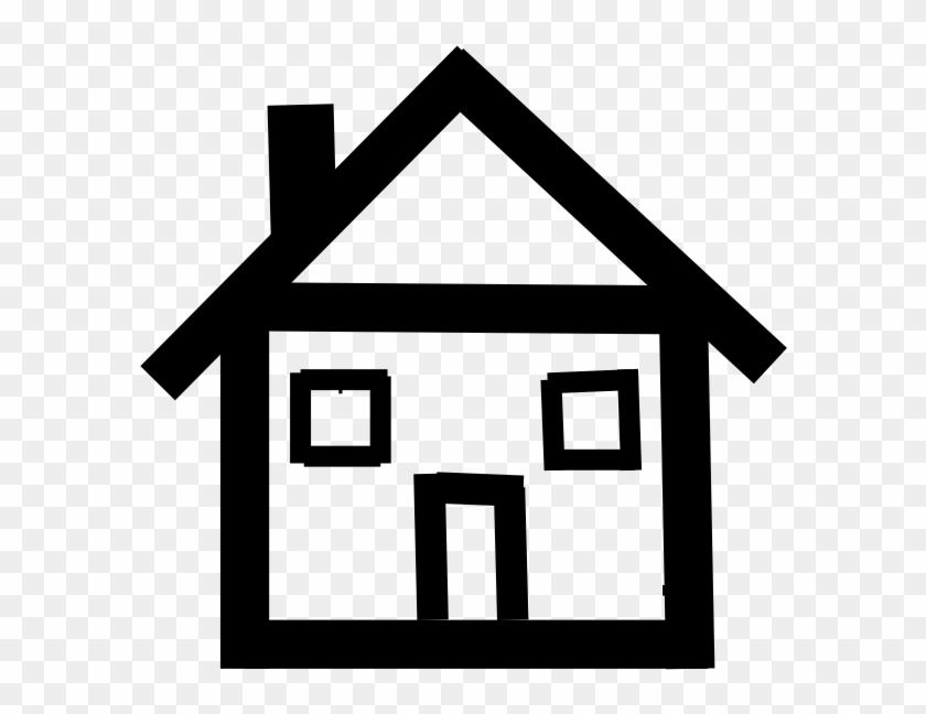 Stick Figure House Clipart - Stick House Clip Art #115696