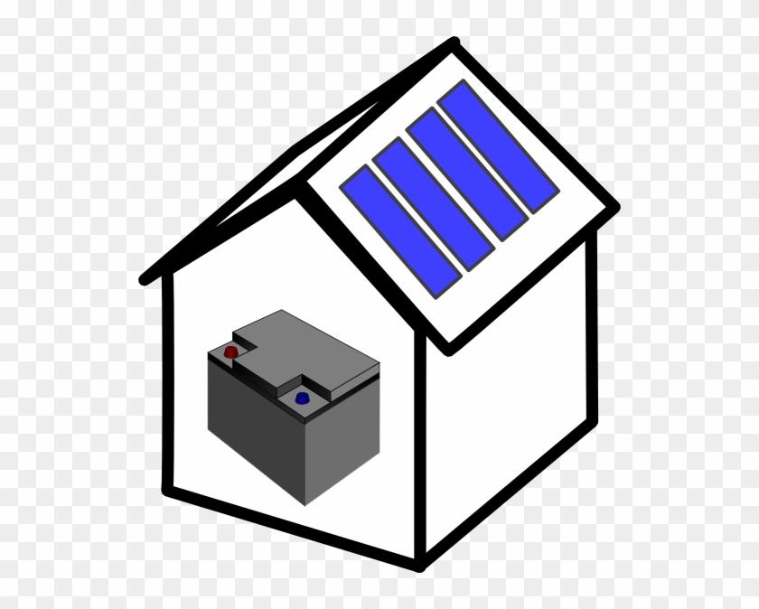 House Solar Battery Clip Art - Solar Battery Clipart #115706