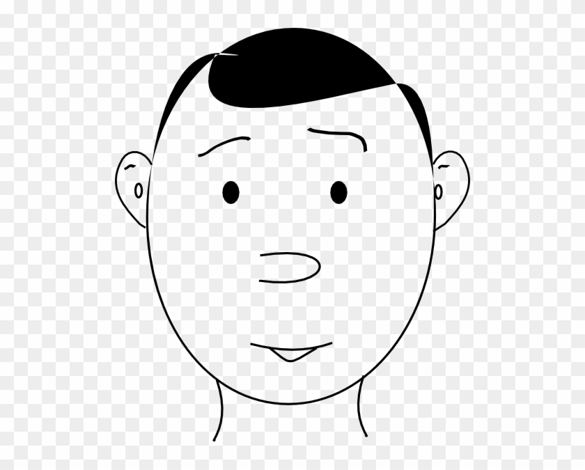 Free Vector Human Face Outline Clip Art - Human Face Outline #115717