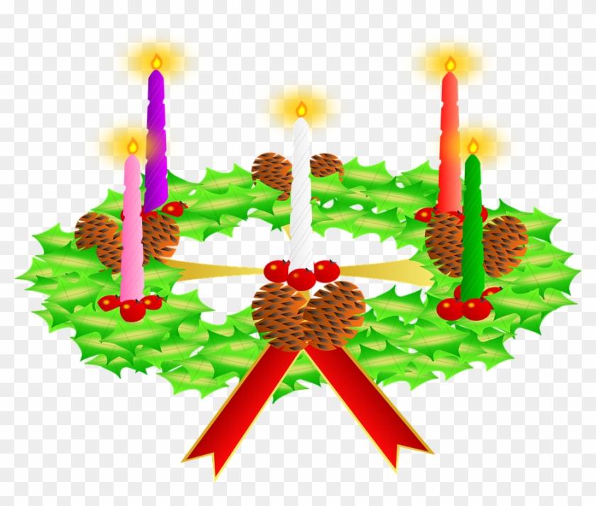 Advent Wreath No Background #115946