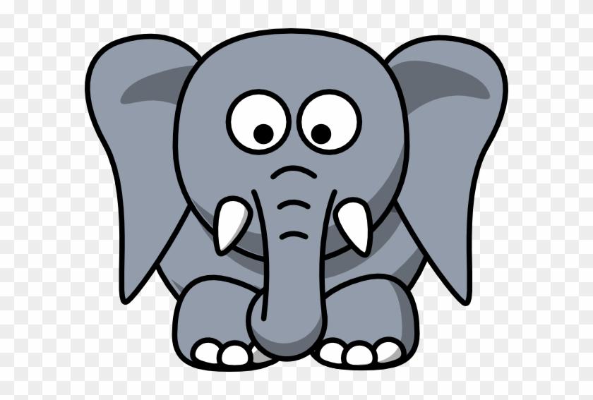 Elephant Ears Clipart - Cartoon Elephant Face #115975