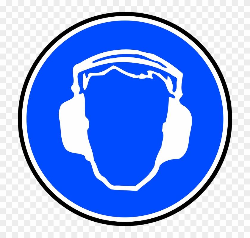 Sign Blue Symbol Safety Cartoon Signs Symbols Safety Ear