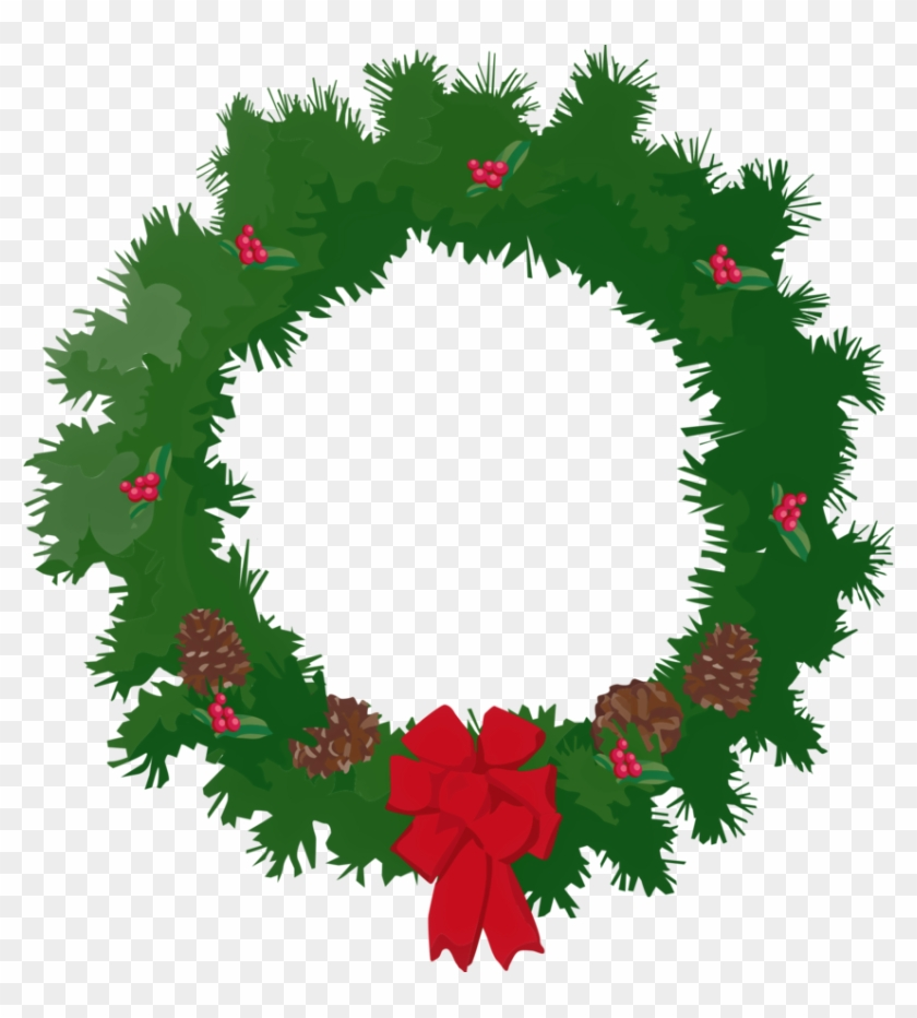 A Christmas Wreath By Thestockwarehouse A Christmas - Merry Christmas Wreath Clip Art #116018
