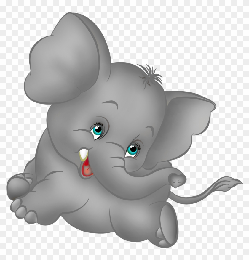 Grey Elephant Cartoon Free Clipart - Cute Baby Elephant Cartoon #116039