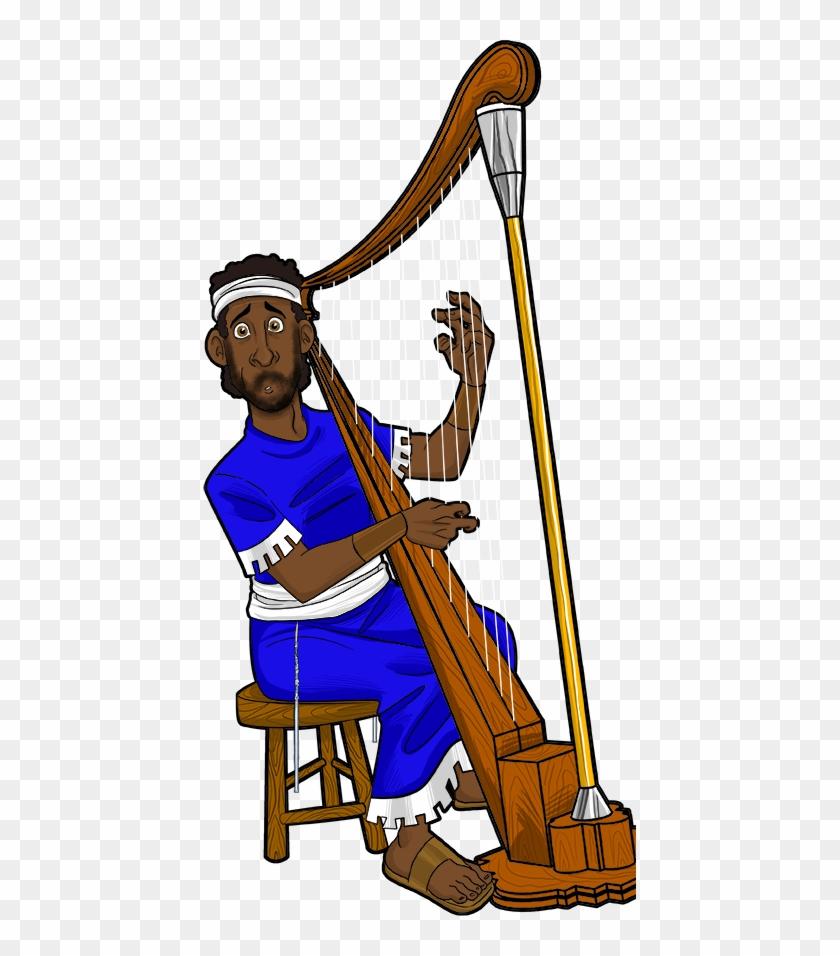 David Plays His Harp For King Saul - David #116201