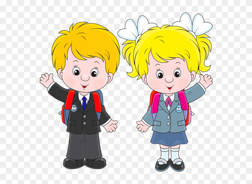 Personnages, Illustration, Individu, Personne, Gens - Clipart Of Boy And Girl #116204