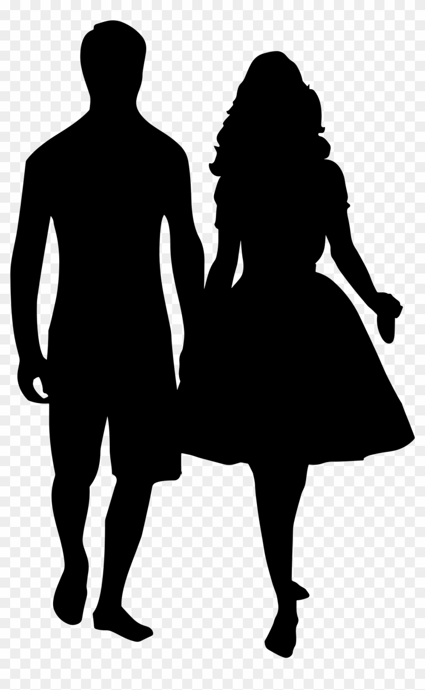 Man And Woman Love Silhouette - Happy Valentines Day Husband #116220