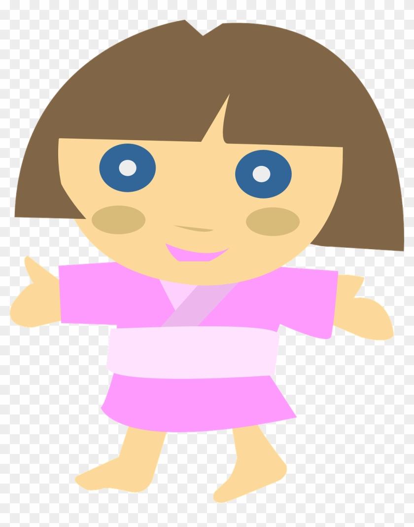 Japanese Character Girl Clip Art - Cool Cartoon Japanese Characters #116259
