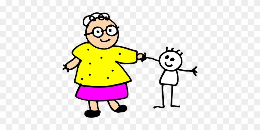 Grandma Kid Child Grandmother Senior Grand - Grandmother Png #116260