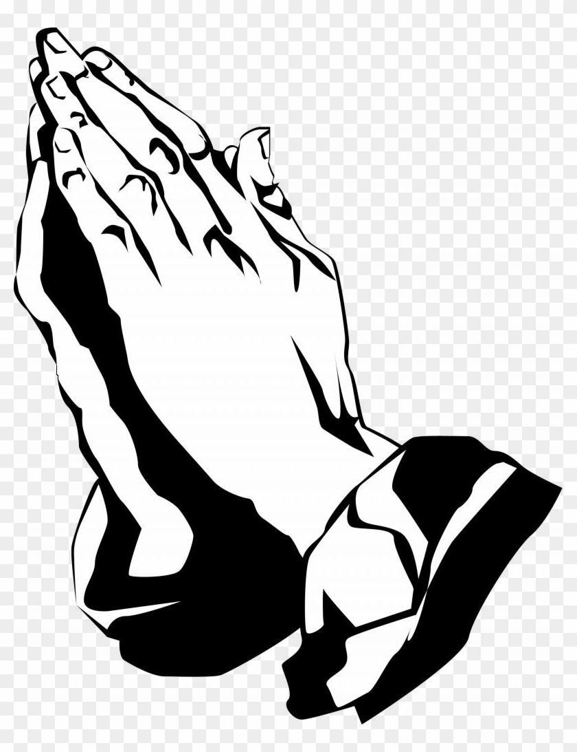 Praying Hands - Praying Hands Clipart Black And White #116434