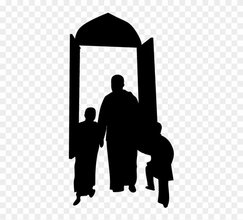 Father Son Pray Praying Masjed Prayers Time - قال رسول الله في شهر رمضان #116468