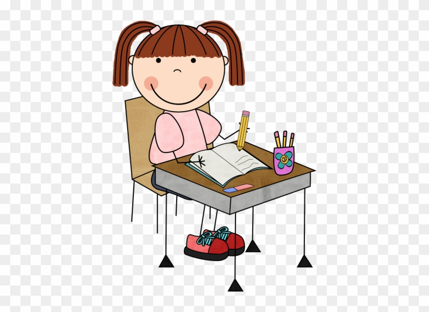 Free Writing Clip Art Clipart Image - Kids Writing Clipart #116478