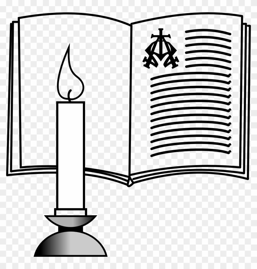 Medium Image - Clip Art Bible And Candle #116772
