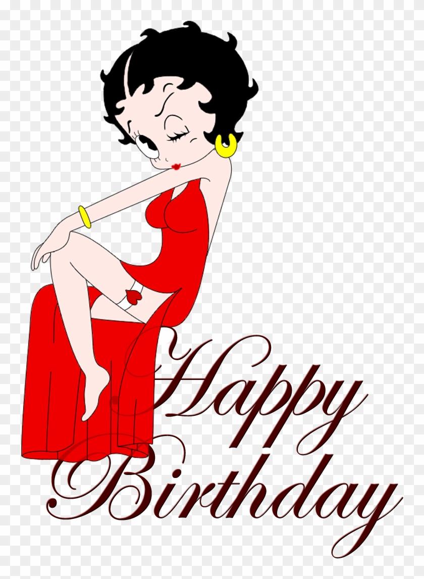 Birthday Clipart Betty Boop - Happy Birthday Cartoon Betty Boop #117075