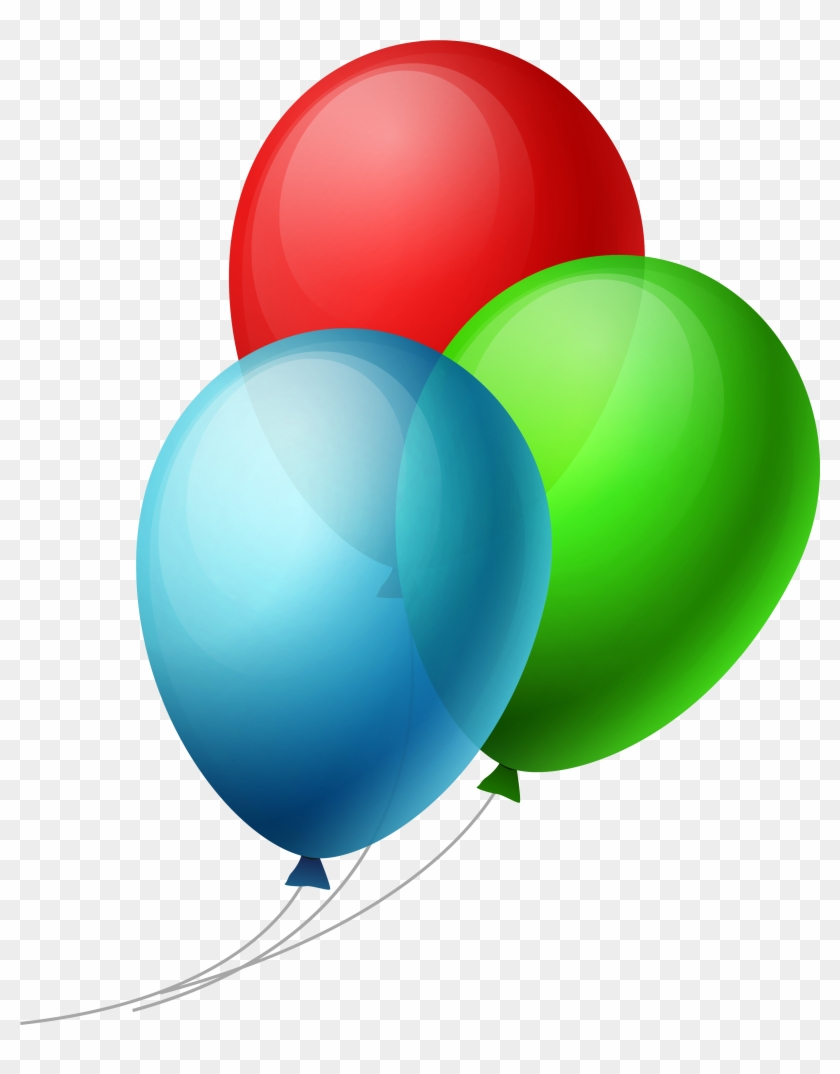 Transparent Three Balloons Png Clipart - Balloons Png Transparent Background #117083