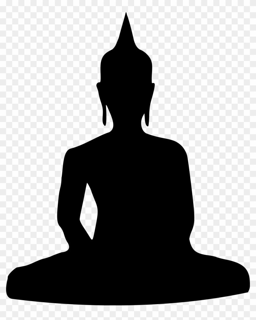 Buddha Temple Png Clipart - Buddha Silhouette #117288