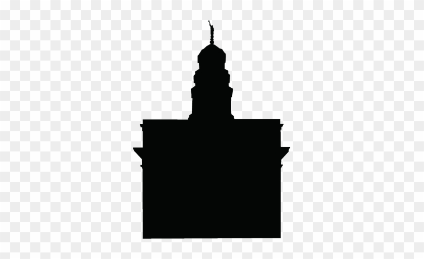 Lds Temple Silhouette Clipart Best - Nauvoo Temple Silhouette #117321