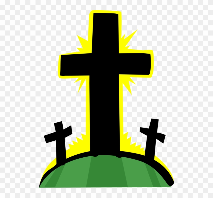 Vector Illustration Of Christian Crucifix Crosses At - Crucifixion #117352