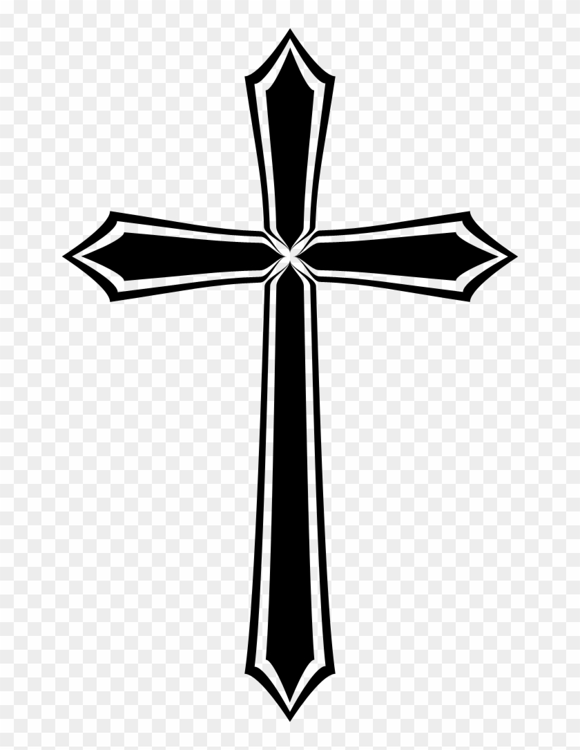 Jesus Christ Is My Savior, Not My Religion - Gothic Cross Png #117353
