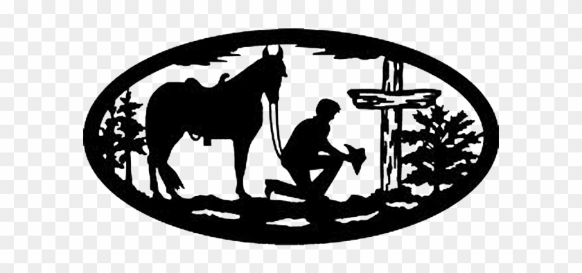 How To Be Saved - Cowboy Kneeling At Cross Silhouette #117420