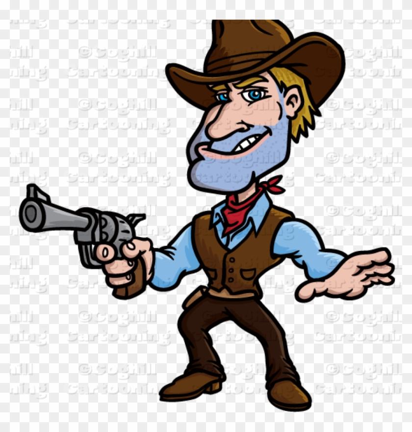 Free Cowboy Clipart Cartoon Gunslinger Cowboy Clip - Cowboy #117436