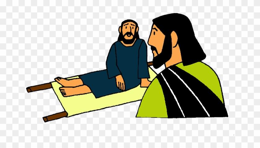 Jesus Heals The Paralytic Clip Art #117452
