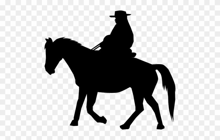 7196 Race Horse Silhouette Clip Art Public Domain Vectors - Cowboy Clipart Black And White #117455