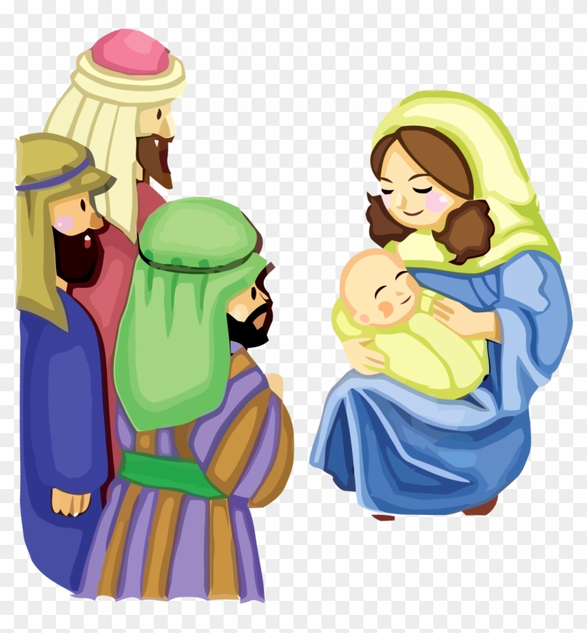 Minayoussefsaleb 1 0 Jesus And Mother Mary Vector 156 - Jesus Mother Cartoon #117491