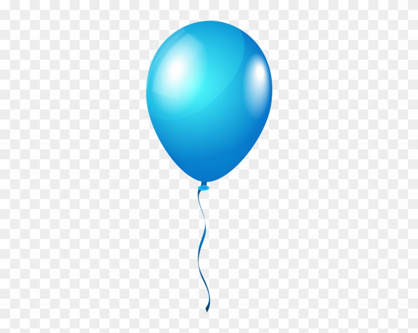Single Blueballoon Png Clipart Image - Blue Balloon Transparent Background #117504