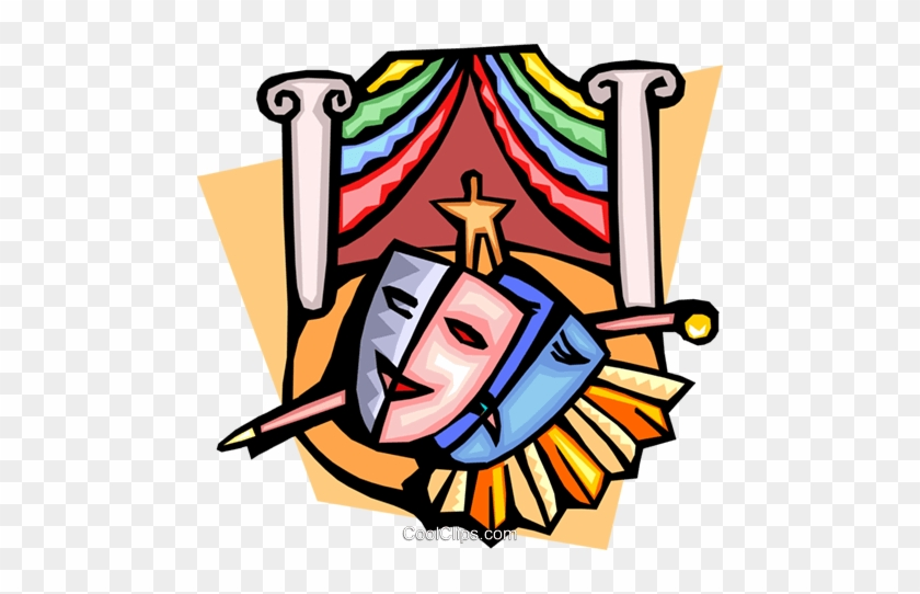 Fancy Clipart Theatre Masks Teatro Clipart Clipground - Literary Elements Of Drama #117564