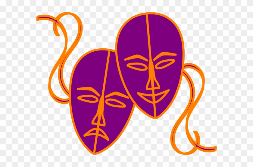 Theatre Masks Clip Art - Colourful Drama Masks #117578