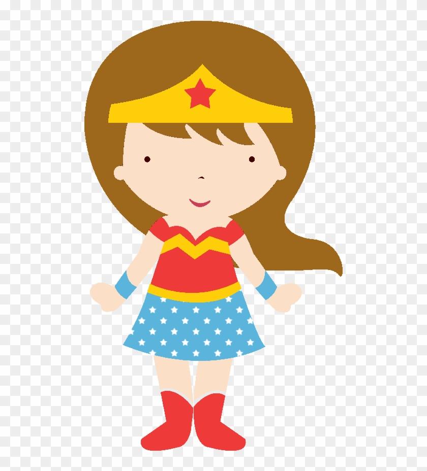 Superheroes Kids Clipart 090 643×900 Píxeles - Mujer Maravilla Caricatura Para Colorear #117603