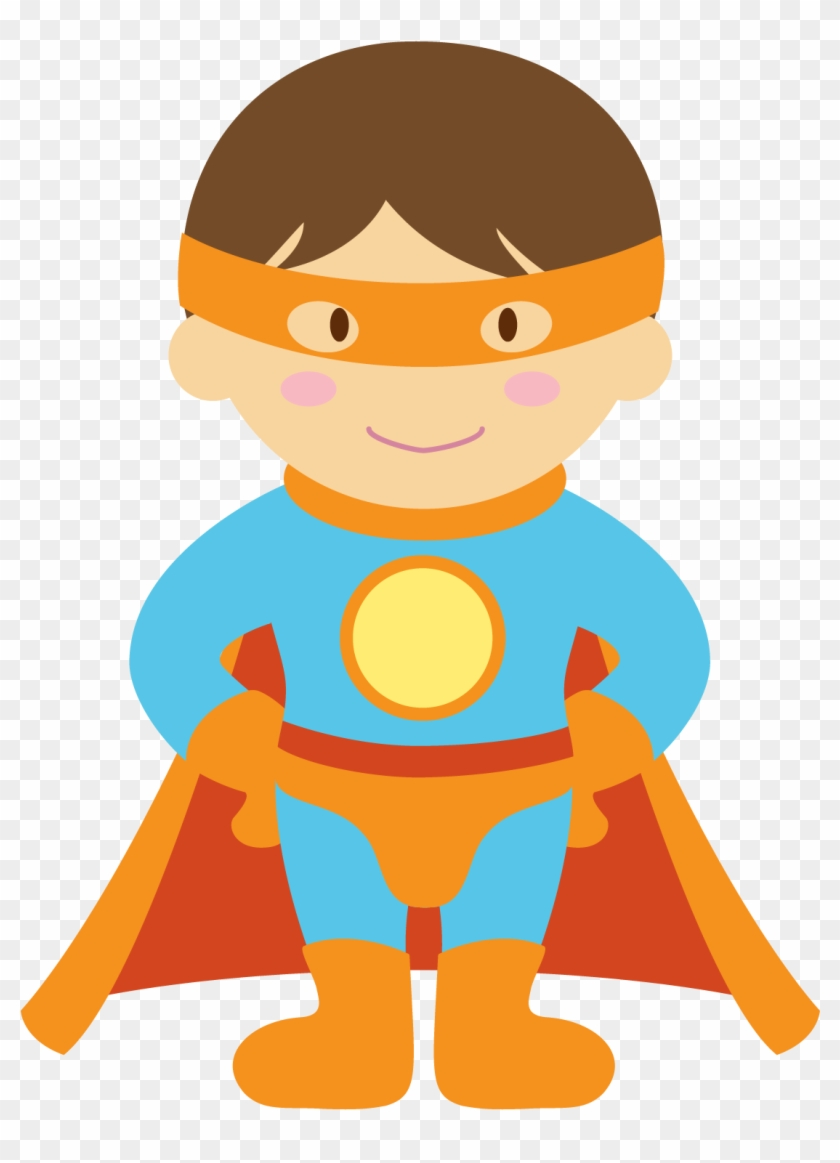 Kids Dressed As Superheroes Clipart - Child Superheroes Clip Art #117630