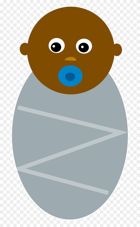 Baby Black Boy Infant Newborn - Clip Art Black Baby #117657