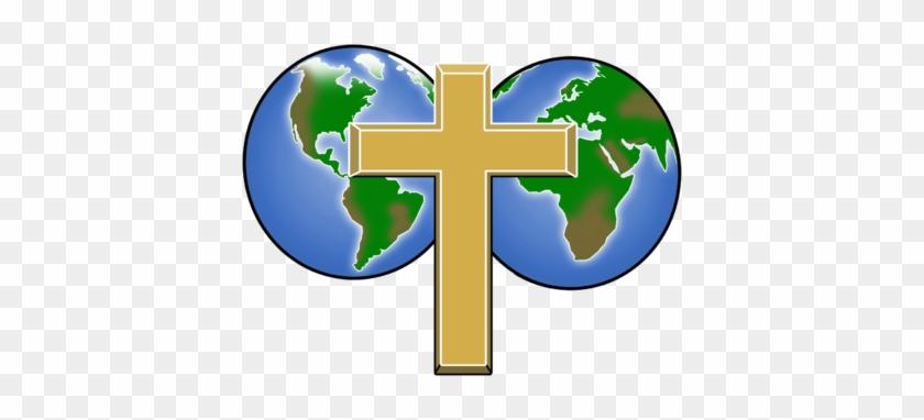 Cross Globe Clipart - World Globe With A Cross #117663