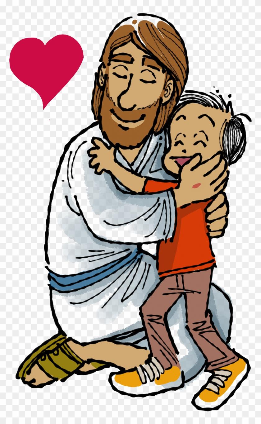 Ilustraciones De Jesus - Abrazo De Jesus Dibujo #117675