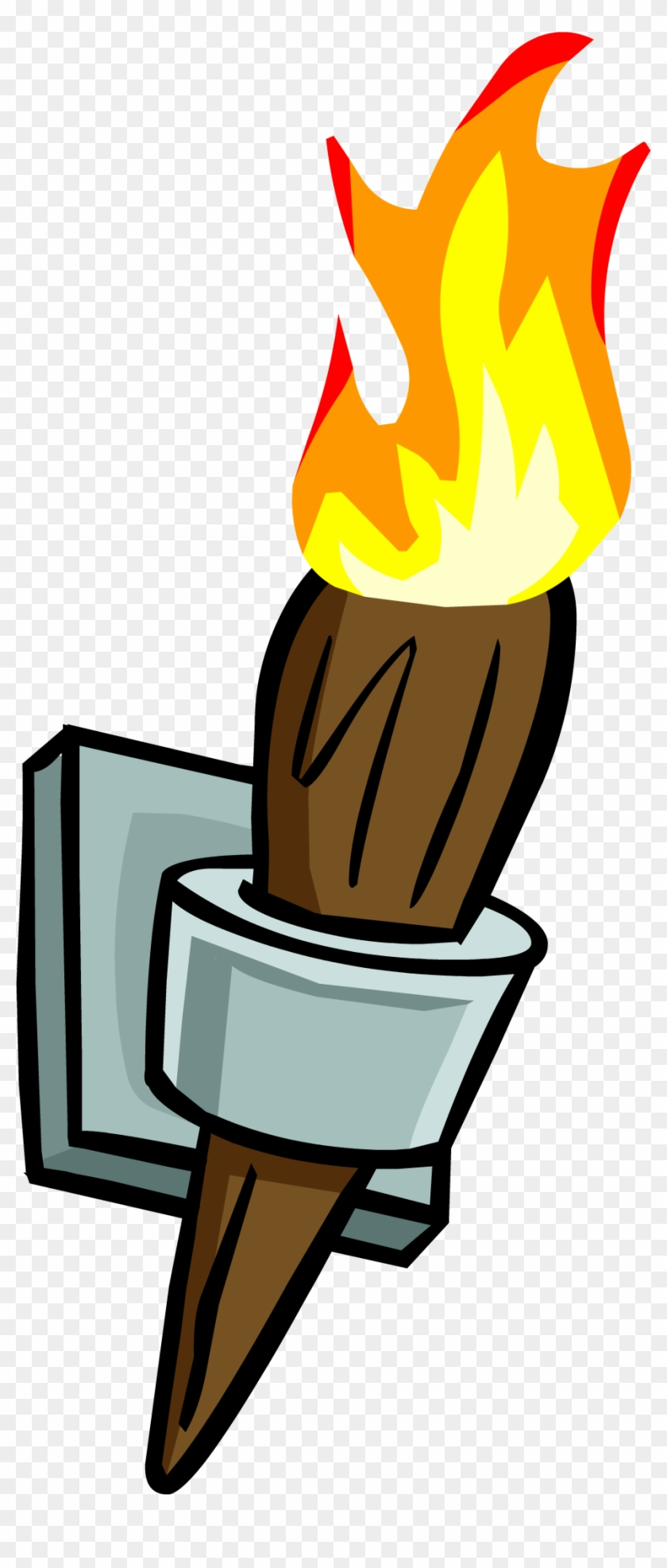 Wall Torch - Png - Club Penguin Torch #117834