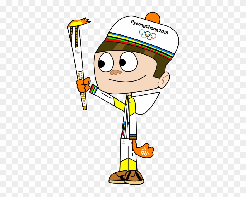 Mcgee Carrying The 2018 Olympic Torch By Wizzdizz - Olympic Torch 2018 Clipart #117843