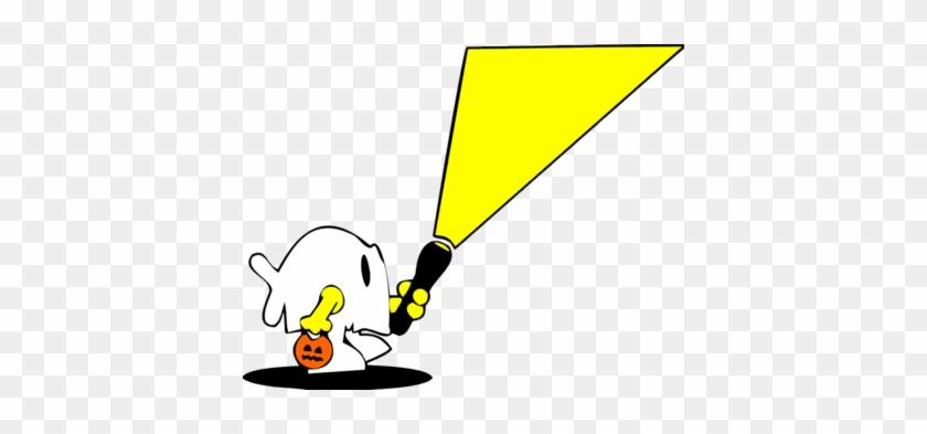 Flashlight Clip Art - Trick Or Treat With Flashlight #117903
