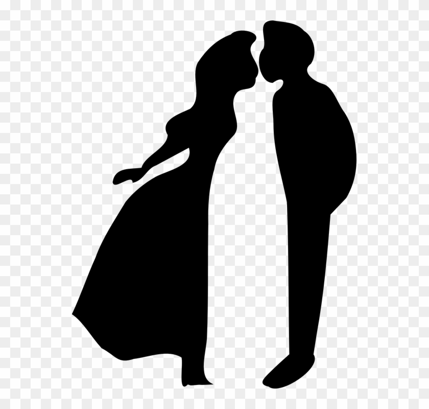 Kisses Clipart First Kiss - Boy And Girl Kissing Clipart #117905