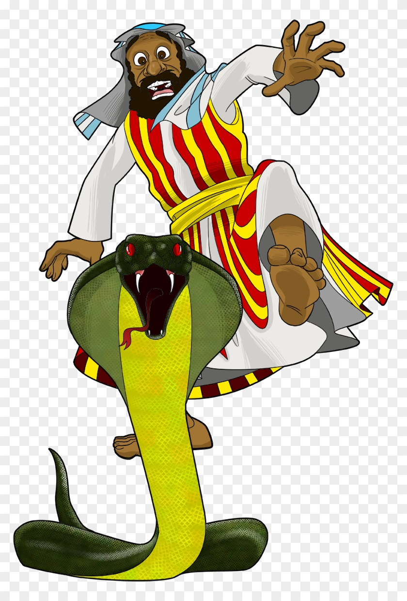 God Turns Moses' Staff Into A Snake - Moses Shephed Transparent Background #117994