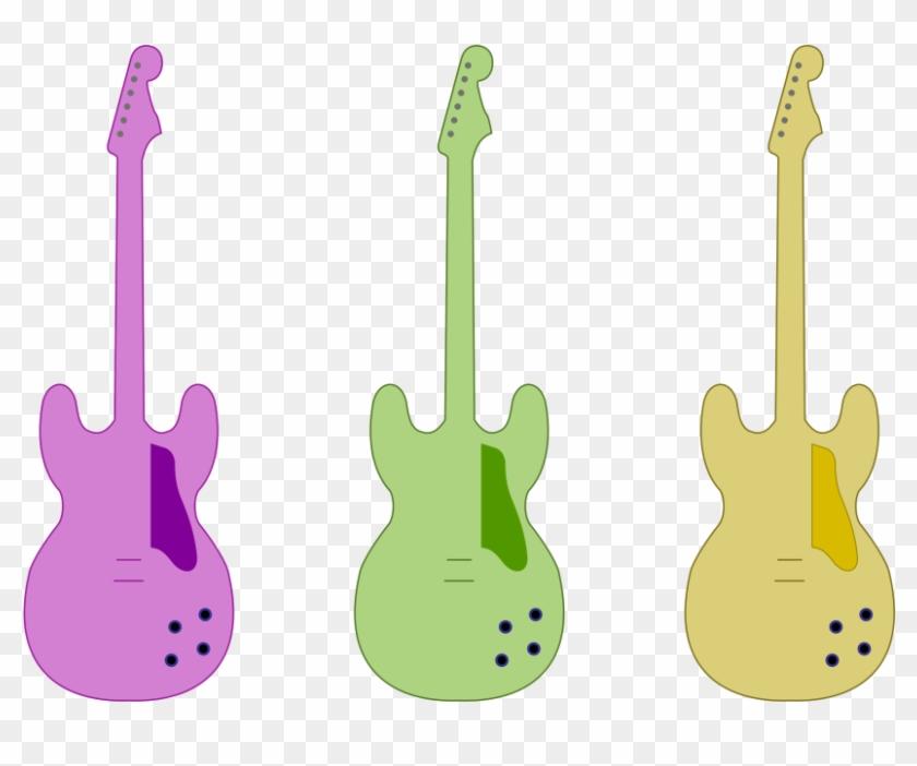 Guitar Outline By Skylark-torch - Color Guitar Outline #118035