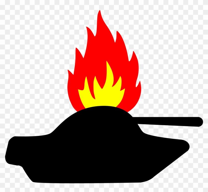 Tank Clip Art - Flammable Symbol #118046
