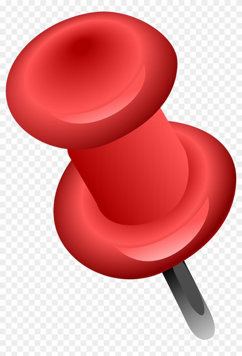 Free Red Push Pin Clip Art - Pushpin Clip Art #118048