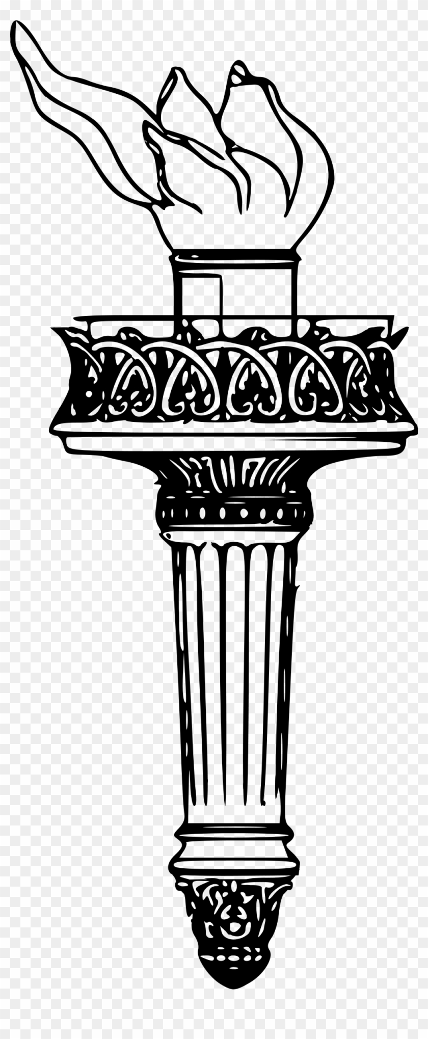 Open - Statue Of Liberty Torch Clipart #118109