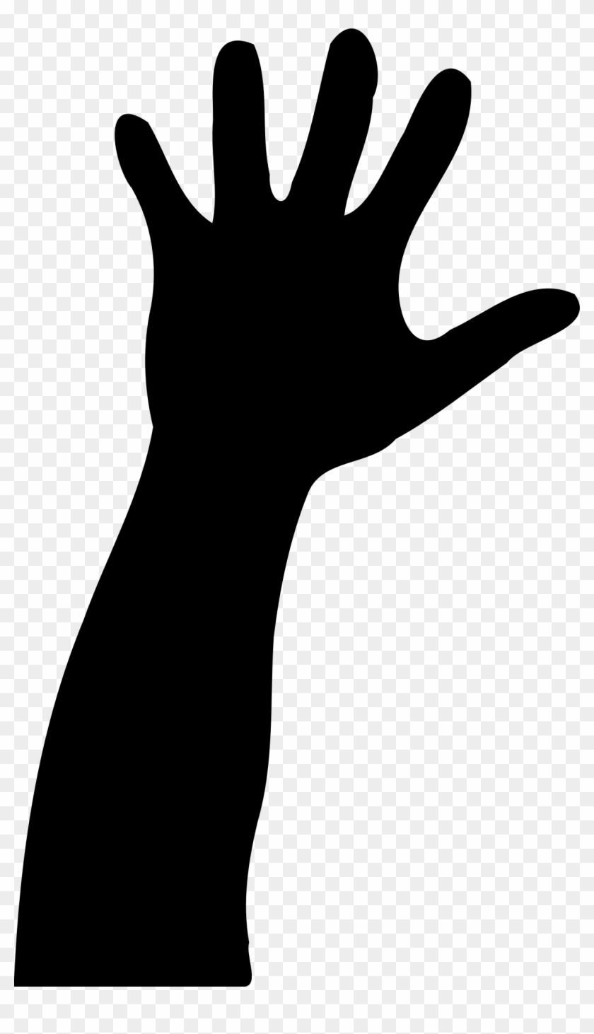 Hand - Raised Hand Silhouette #118192
