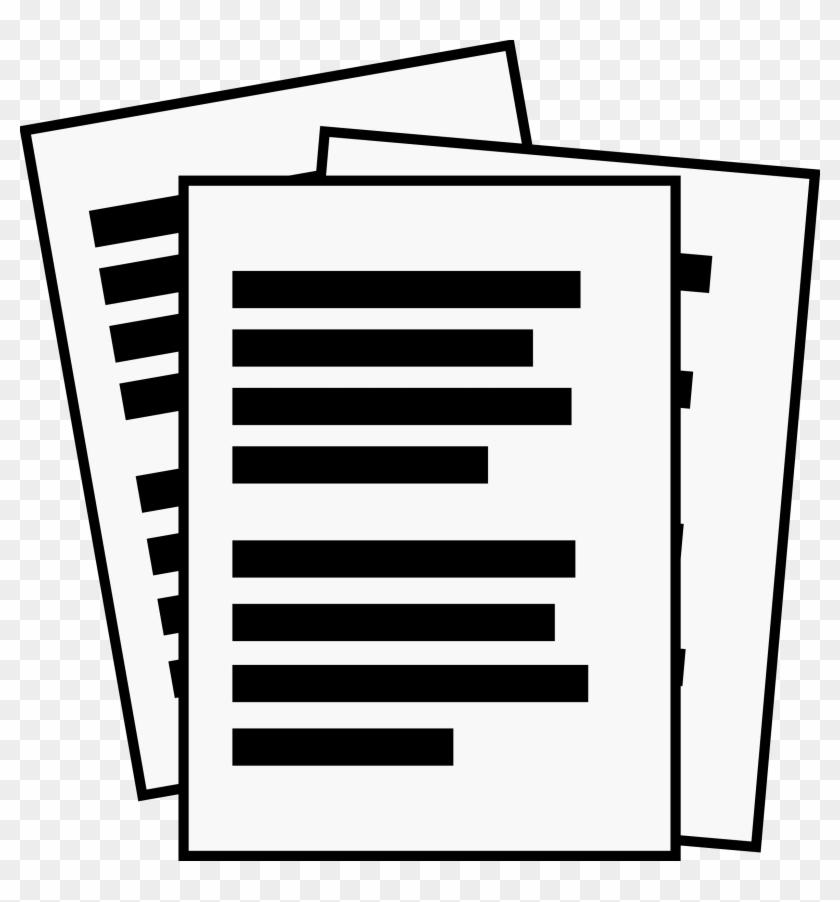 Big Image - Document Clipart #118276