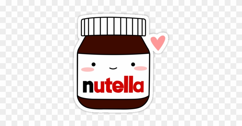 Also Buy This Artwork On Stickers, Apparel, Phone Cases, - Nutella Kawaii Png #118345